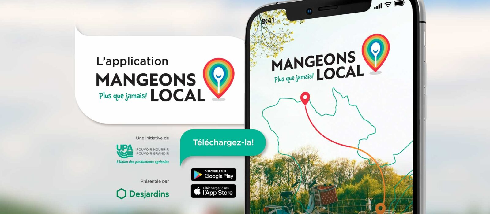 Application mobile UPA Mangeons local